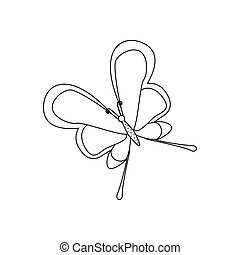 Butterfly coloring pages on the white background. Vector...