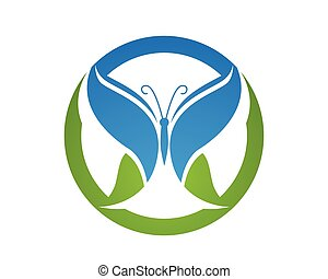 Butterfly conceptual simple, colorful icon. Logo. Vector...