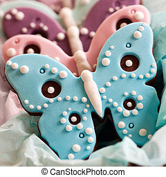 Butterfly cookies - Gift basket filled with butterfly ...
