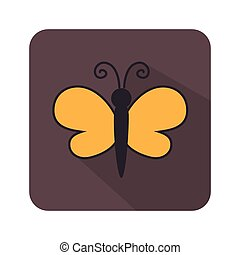 Butterfly cute cartoon design