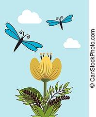 Butterfly cute cartoon design