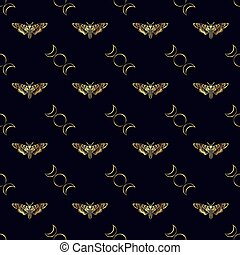 Butterfly Deaths head hawk moth. The symbol of the triple...