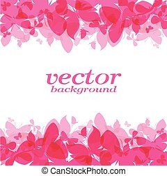 Butterfly design on white background - Vector Illustration, background