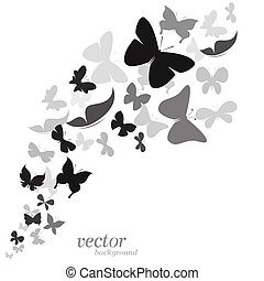 Butterfly design on white background
