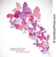 Butterfly design on white background - Vector Illustration