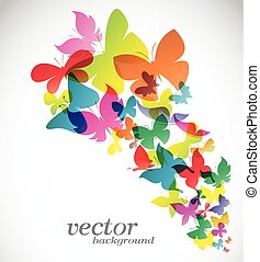 Butterfly design on white background - Vector Illustration