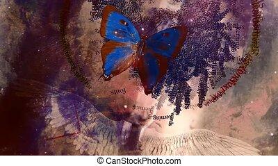 Butterfly. Digital modern abstract