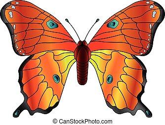Butterfly - butterfly vector; slip away; flower butterfly;...