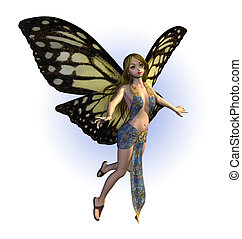 Butterfly Fairy - 3D render of a butterfly fairy.