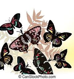 Butterfly fashion pattern