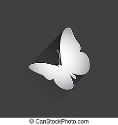 butterfly flat icon.
