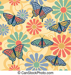 Butterfly Flower Pattern