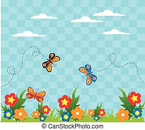 butterfly garden background