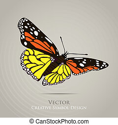 Butterfly graphic design background