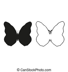 butterfly - green vector icon