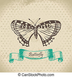 Butterfly. Hand drawn illustration