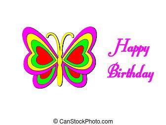 Butterfly happy birhtday - Beautiful butterfly happy...