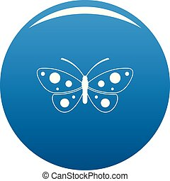 Butterfly icon blue vector