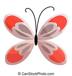 Butterfly icon, cartoon style