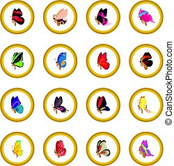 Butterfly icon circle