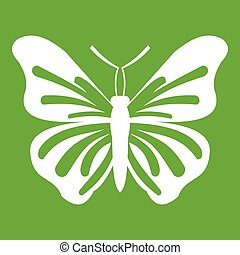 Butterfly icon green