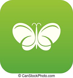 Butterfly icon green vector