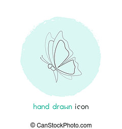 Butterfly icon line element. illustration of butterfly icon line isolated on clean background for your web mobile app logo design.