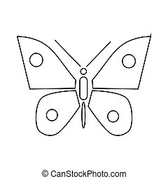 Butterfly icon, outline style