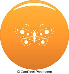 Butterfly icon vector orange