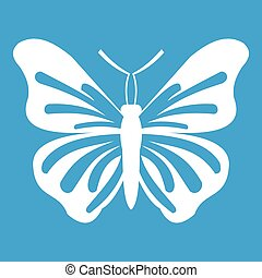 Butterfly icon white