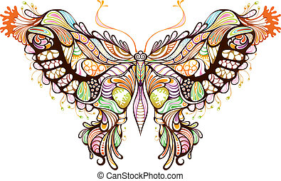 Butterfly - Illustration of abstract butterfly.
