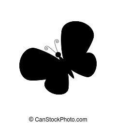 Butterfly illustration silhouette