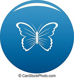Butterfly in nature icon blue vector