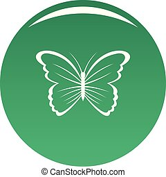Butterfly in nature icon vector green