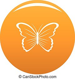 Butterfly in nature icon vector orange