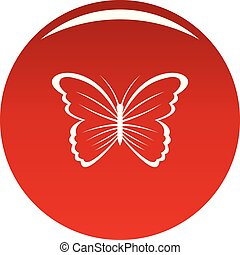 Butterfly in nature icon vector red