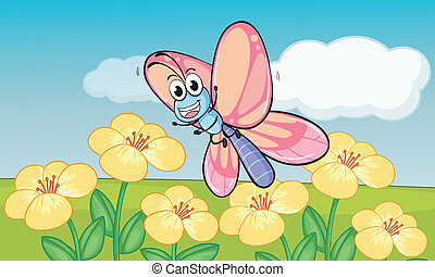 Butterfly in nature - Illustrtion of butterfly in beautiful...