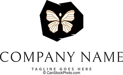 Butterfly In Stone vector logo image