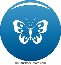 Butterfly in wildlife icon blue vector