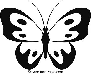 Butterfly in wildlife icon, simple style.