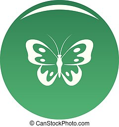 Butterfly in wildlife icon vector green