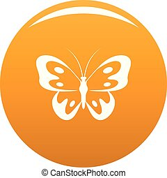 Butterfly in wildlife icon vector orange