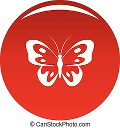 Butterfly in wildlife icon vector red