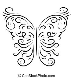 Butterfly isolate stylish decorative graphically