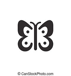 Butterfly. Isolated icon. Glyph vector illustration
