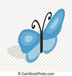 Butterfly isometric icon