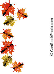 Butterfly leaves border