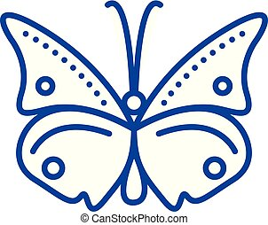 Butterfly line icon concept. Butterfly flat vector symbol, sign, outline illustration.