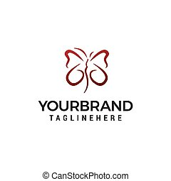 Butterfly logo design concept template