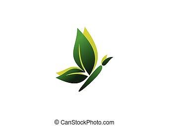 butterfly logo,beauty spa ecoloy